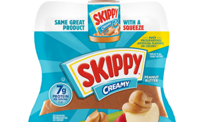 Skippy squeezable peanut butter.