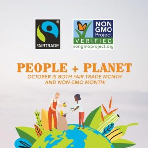 Hundreds of Retailers to Promote Fairtrade and Non-GMO Month this October