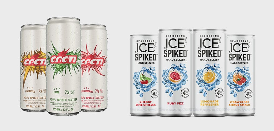 Cacti and Ice Spiked in cans