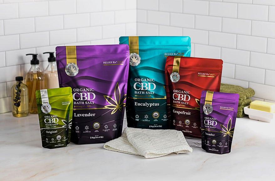Saltology Debuts CBD Bath Salts in Pouches