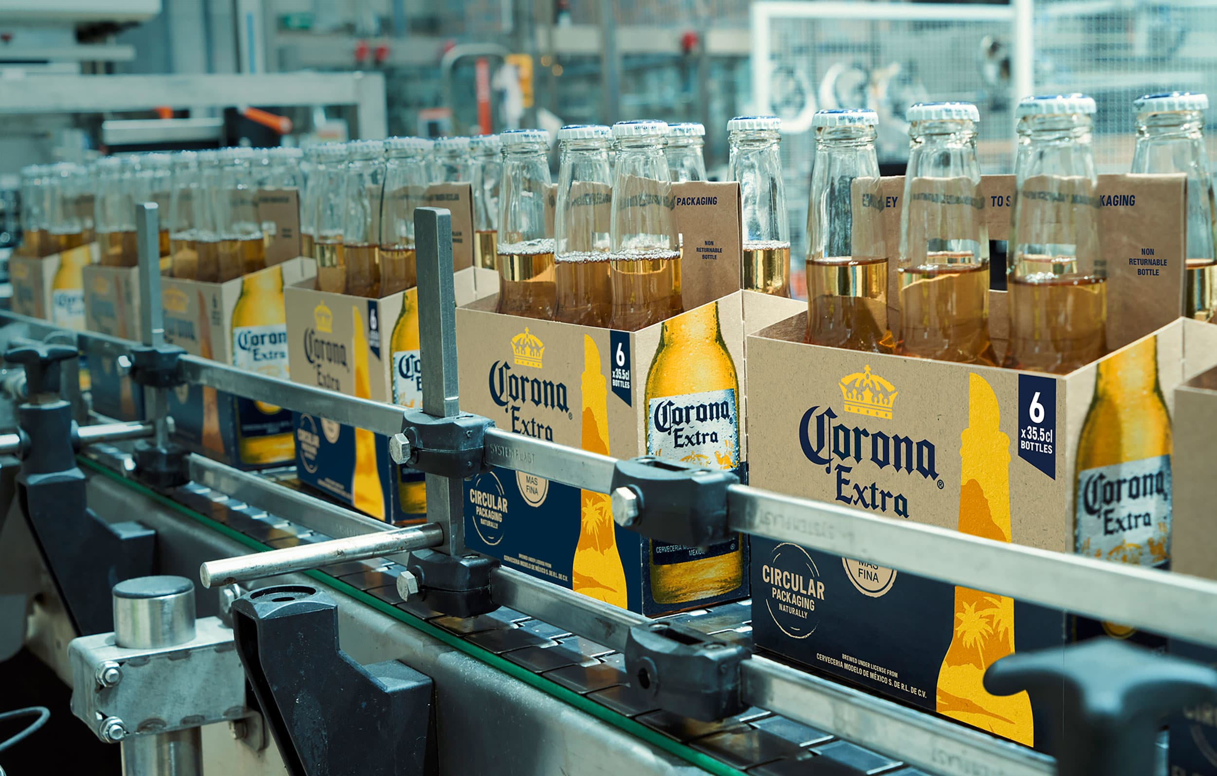 Strength in performance: The new eco six-packs on a packaging line