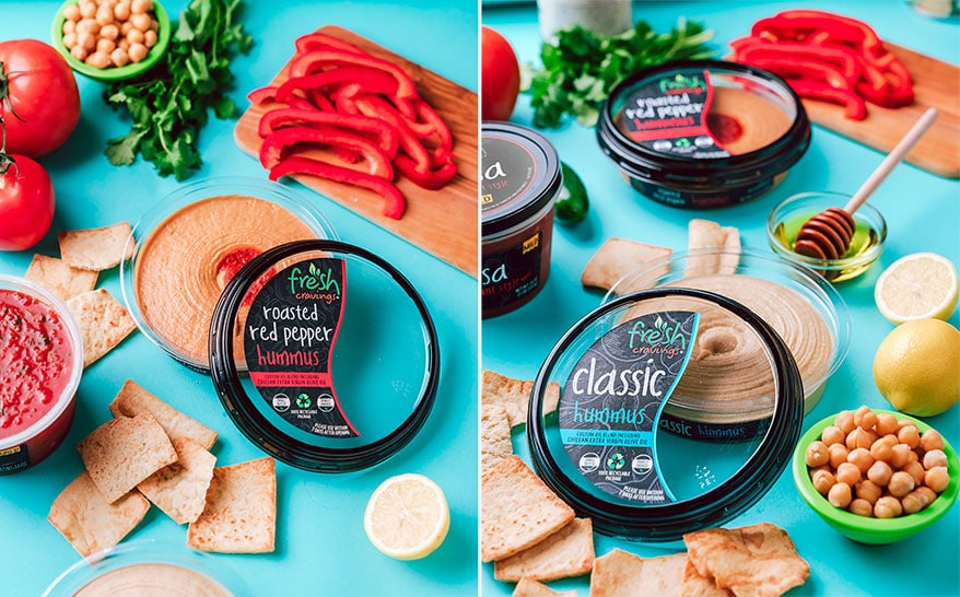 Fresh Cravings Launches Hummus in Recyclable Packaging