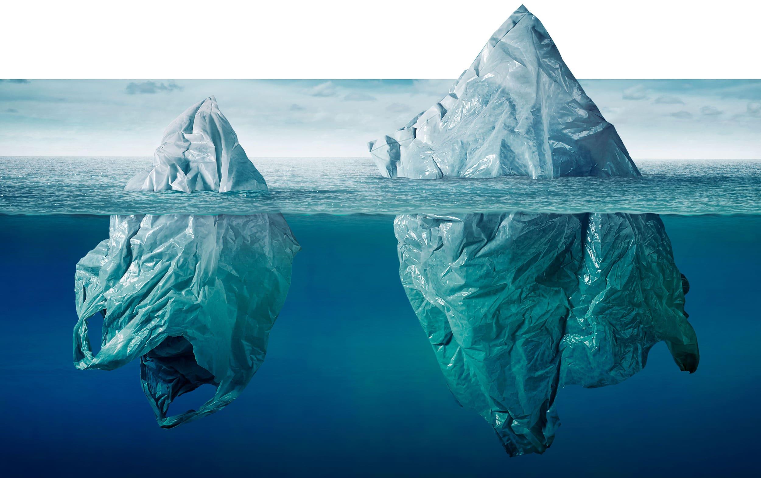 plastic iceberg