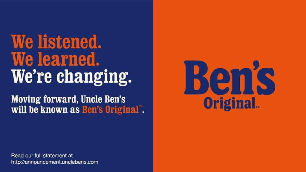 """Uncle Ben's Now """"Ben's Original"""" with New Packaging"""