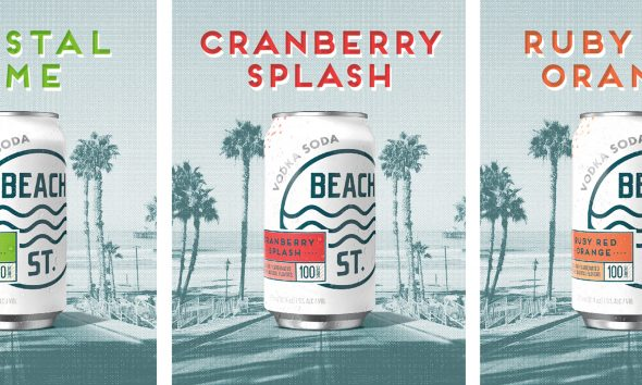 New Look for Beach Street Vodka Brand Promotes the Drinking Experience