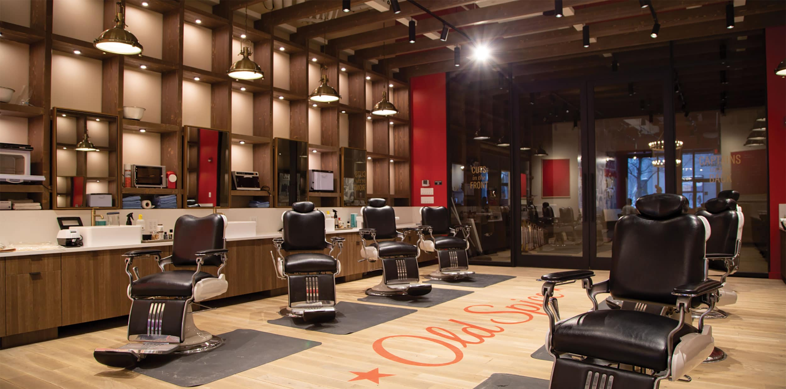 Old Spice Testing New Package Designs at Experiential Barbershop