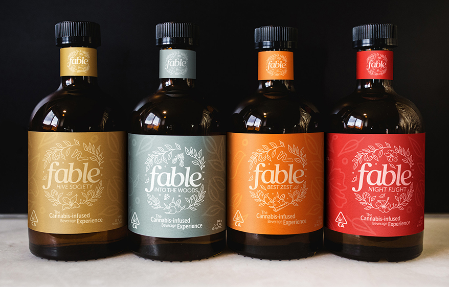 """L Fable's line of ready-to-drink, cannabis cocktails positions itself to flourish in the intersection of two emerging markets—the alcohol-alternative and cannabis beverage markets. Sales of non-alcoholic and low-alcoholic beverages grew more than 30% in 2020 in the U.S., according to market research firm IWSR, while 3.4 million cannabis-infused beverages were sold in 2020, equating to $43.3 million in category sales in California alone. Not to mention, """"sober curious"""" individuals are reportedly twice as likely to be open to cannabis, signaling that Fable is entering the market at an opportune time."""