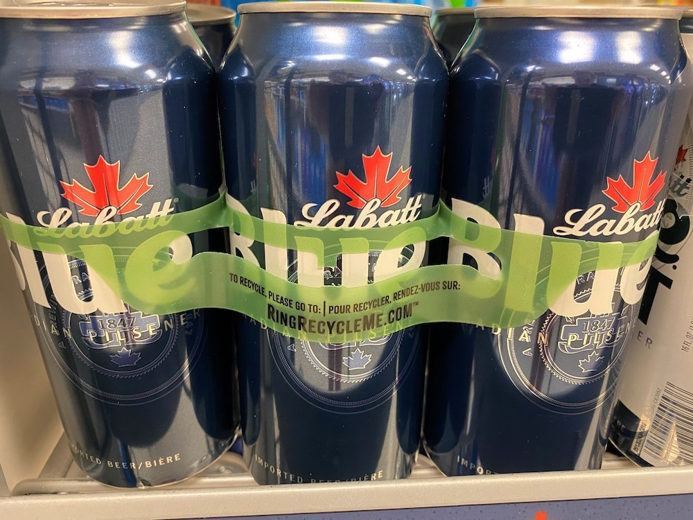 Labatt USA Transitions to Ring Carriers Made of Recycled Content