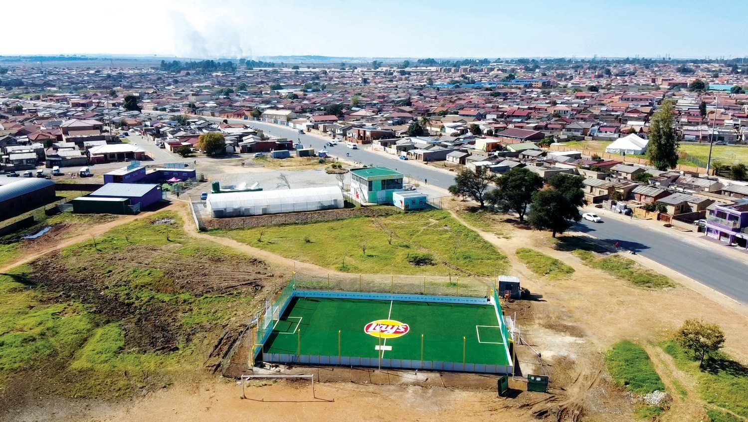 Lay's to Use Empty Chip Packets to Build Sustainable Soccer Fields