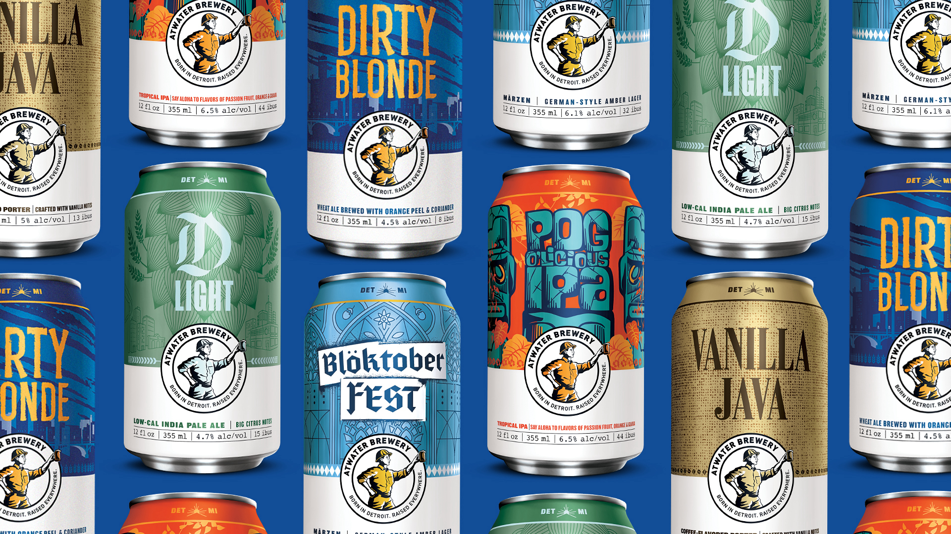 Atwater Brewery Rolls Out New Branding and Packaging