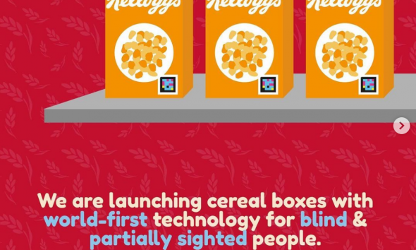 Kellogg's to Launch New Cereal Boxes for Blind and Partially Sighted Shoppers