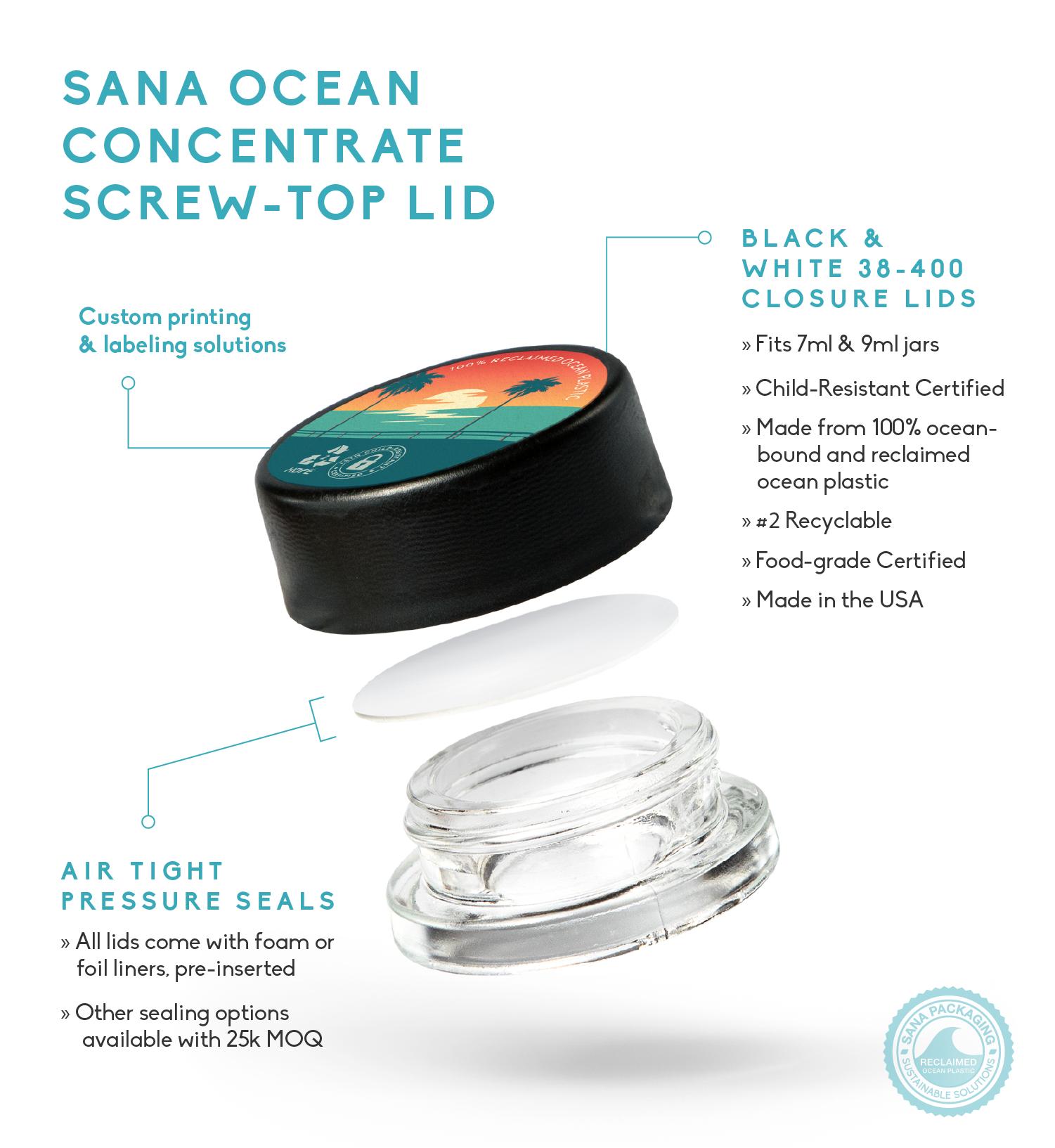Sana Packaging Releases Sana Ocean Concentrate Screw-Top Lid