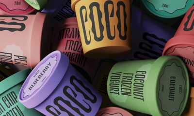 Playful Typography Takes the Spotlight in New Concept from Coco Frozen Yogurt