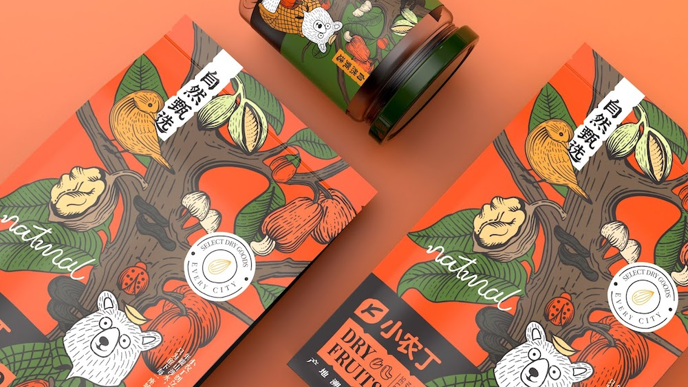 """Snack Maker Trots Out Illustrated """"Peasant Bear"""" as Brand Mascot"""