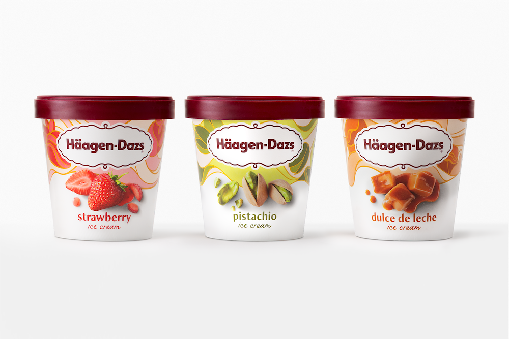 Häagen-Dazs Updates Packaging with New Photography, Modified Logo